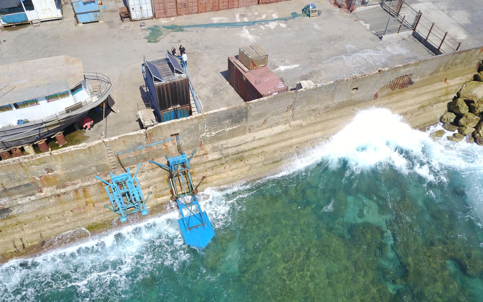 Eco Wave Power's demo site at Jaffa Port. Photo courtesy