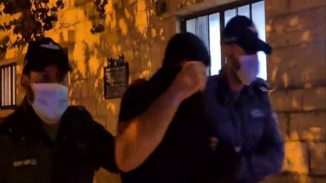 Arrest of a member of La Familia gang in Jerusalem, screenshot