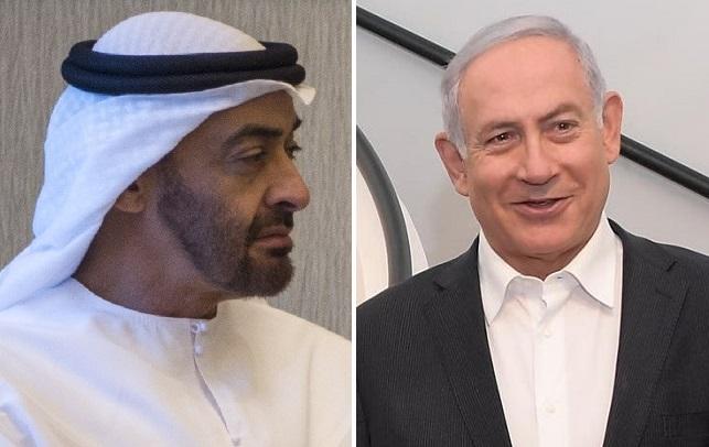L-R Mohammed bin Zayed UAE (wikipedia), PM Netanyahu (GPO)
