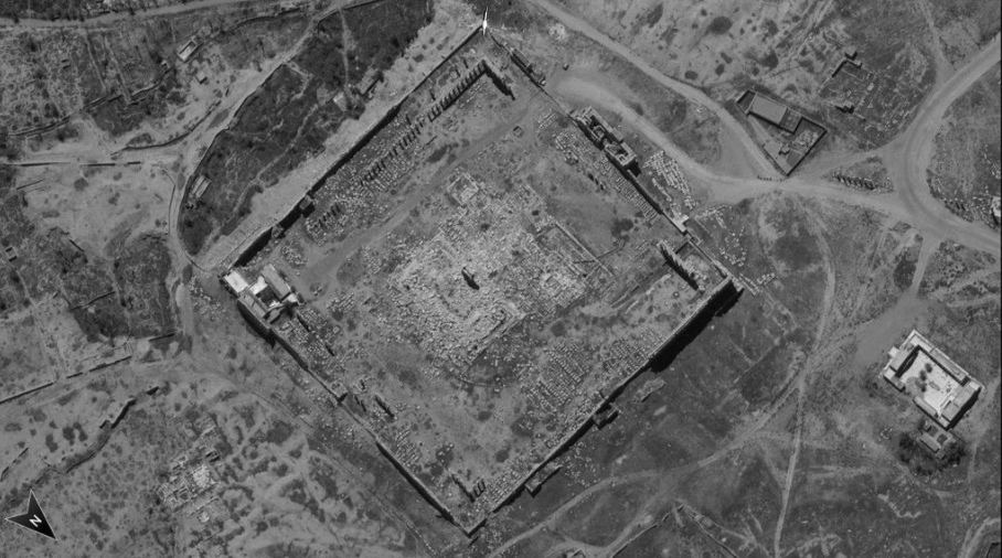 Photo taken by Ofek 16 satellite over Syria showing the ancient city of Palmyra - Defense Ministry