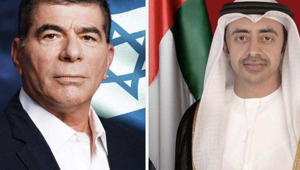 Foreign Minister Gabi Ashkenazi, left, and his UAE counterpart Abdullah bin Zayed bin Sultan Al Nahyan - Ynet News