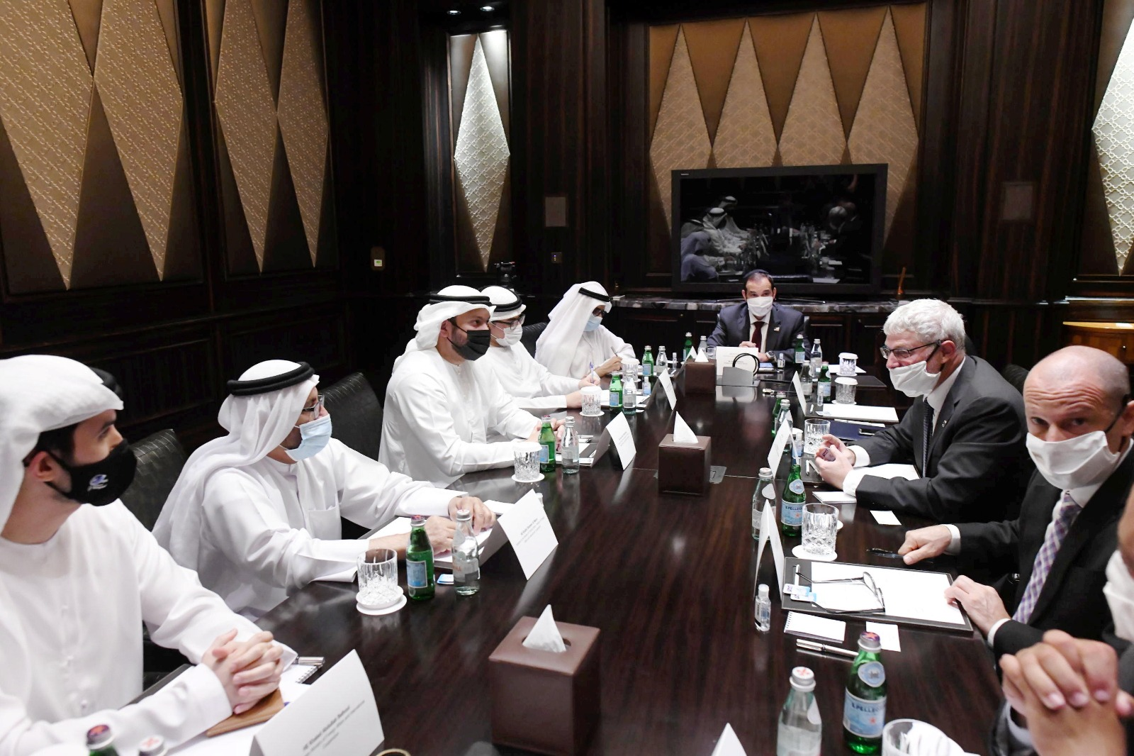 Israel and the Emirates: working groups in Abu Dhabi/ credit Amos Ben-Gershom (GPO)